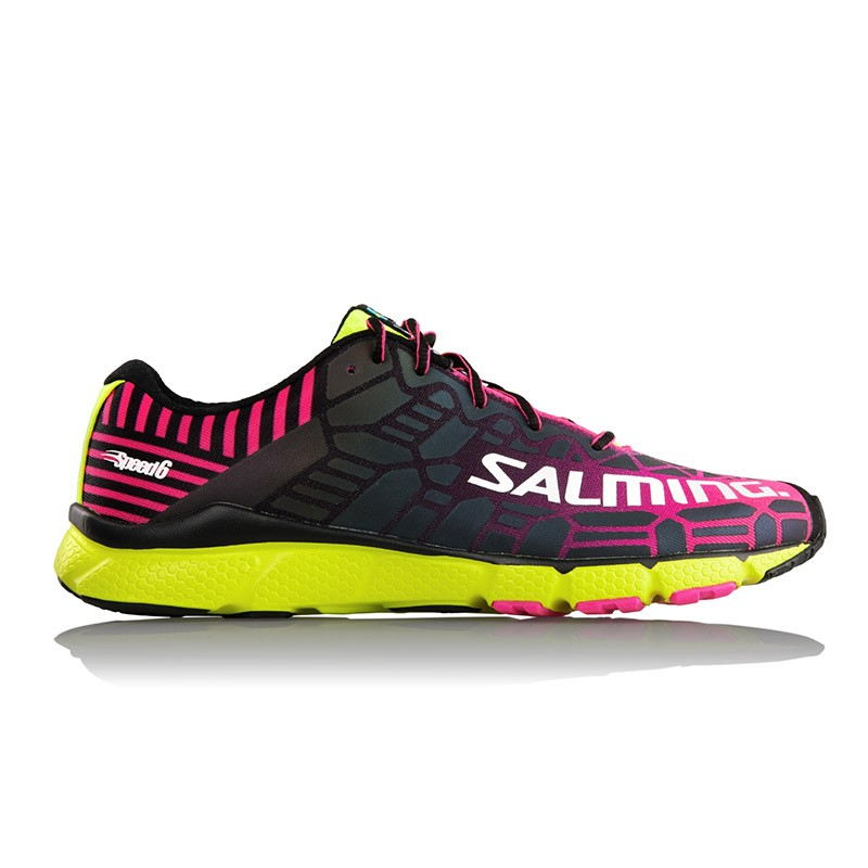Кроссовки SALMING Speed6 PinkGlo/SafetyYellow