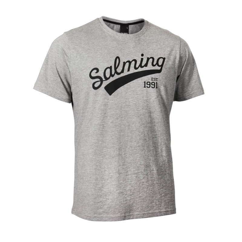 Футболка Salming Logo Tee Jr Grey