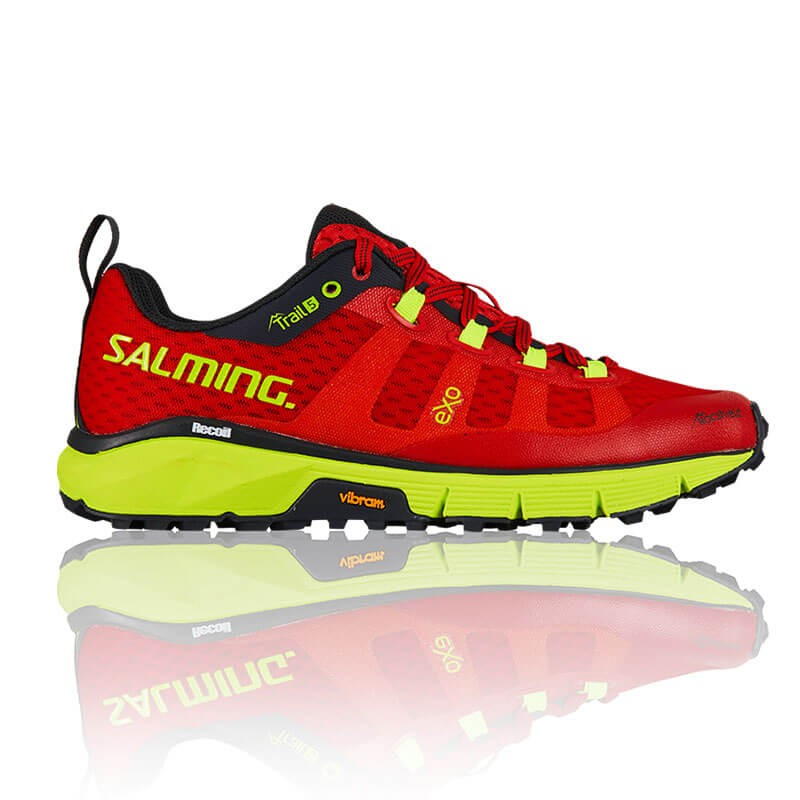 Кроссовки SALMING TRAIL 5 Wmn  Poppy Red/Safety Yellow