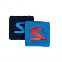 Напульсник Salming Wristband Short 2-pack Blue/Navy